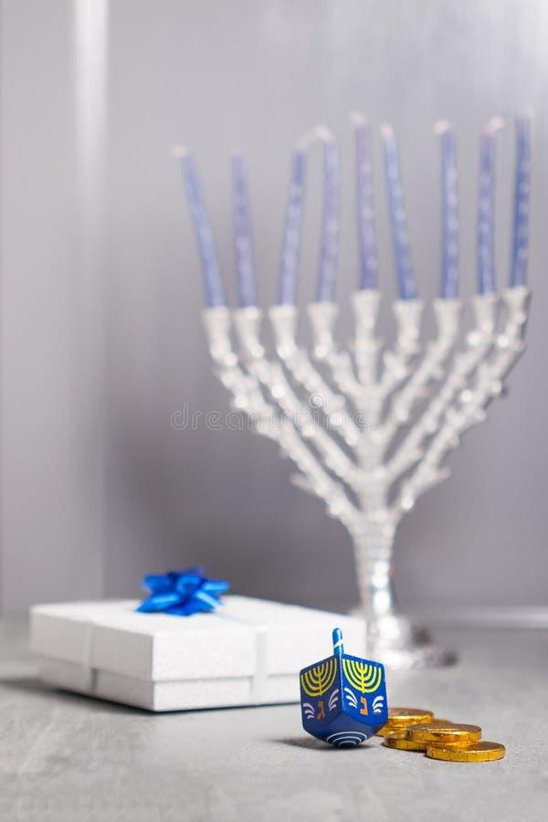 Les symboles religieux des vacances juives Hanoucca photos libres de droits