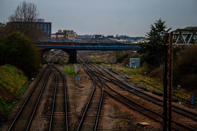 Les systèmes ferroviaires du nord photographie stock