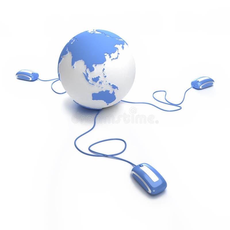 Les télécommunications mondiales Asie ont installé illustration libre de droits