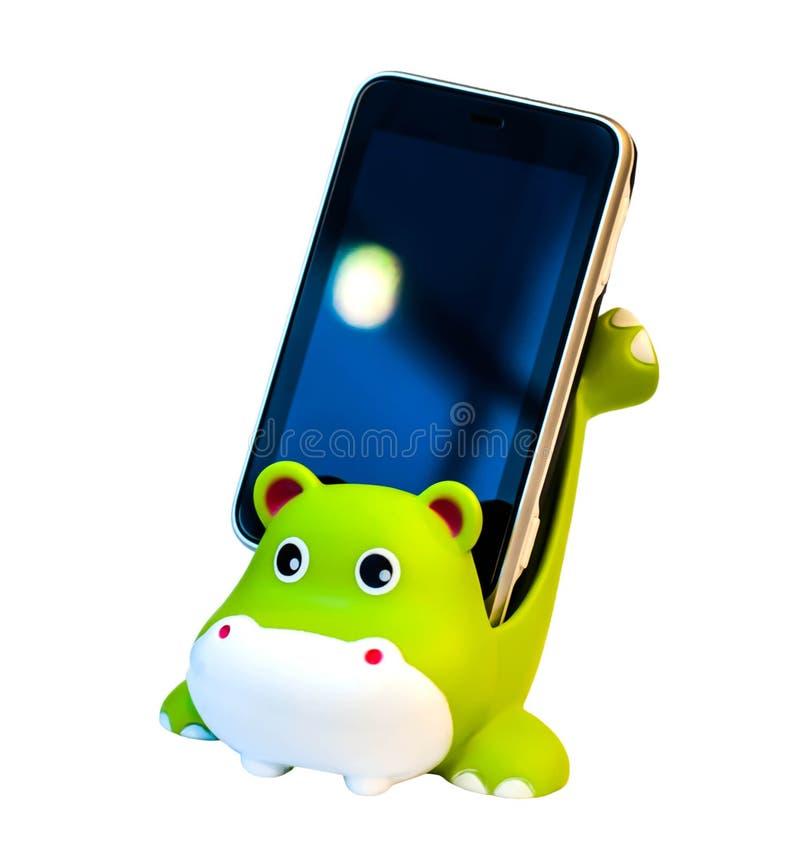 Téléphones portables et support de téléphone portable images stock