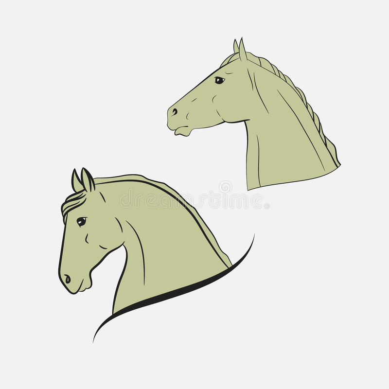Les têtes de cheval photo libre de droits