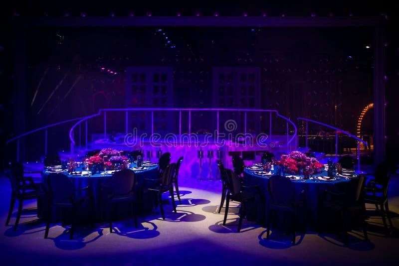 Les Tableaux place pour épouser ou un dîner approvisionné différent d'événement photos libres de droits