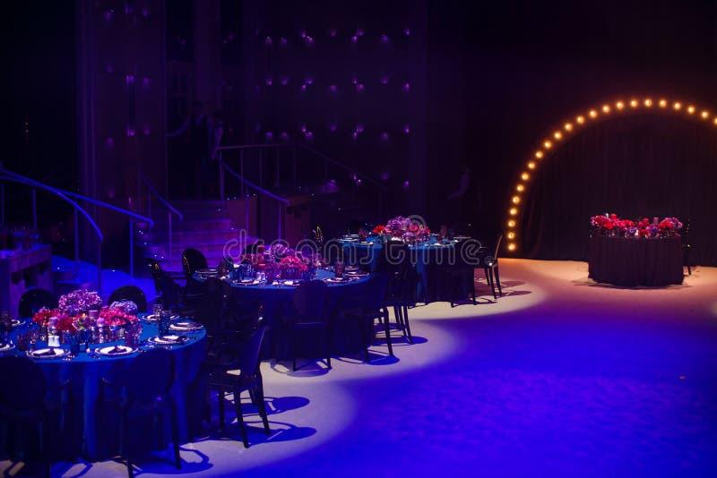 Les Tableaux place pour épouser ou un dîner approvisionné différent d'événement images libres de droits