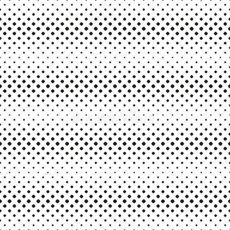 Les tache-lignes horizontales tramées sans couture modèle du noir ont arrondi des places sur le blanc Fond tramé Contrasty Vecteu illustration stock