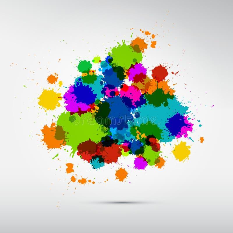 Les taches colorées de vecteur, éponge, éclabousse illustration de vecteur