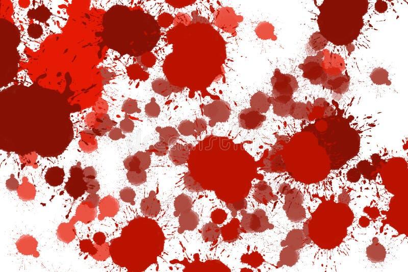 Les taches de couleur rouge se sont laissées tomber comme sang illustration de vecteur
