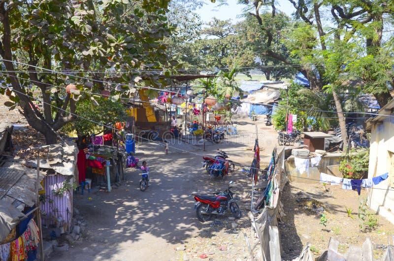Les taudis de Mumbai, Inde photographie stock libre de droits