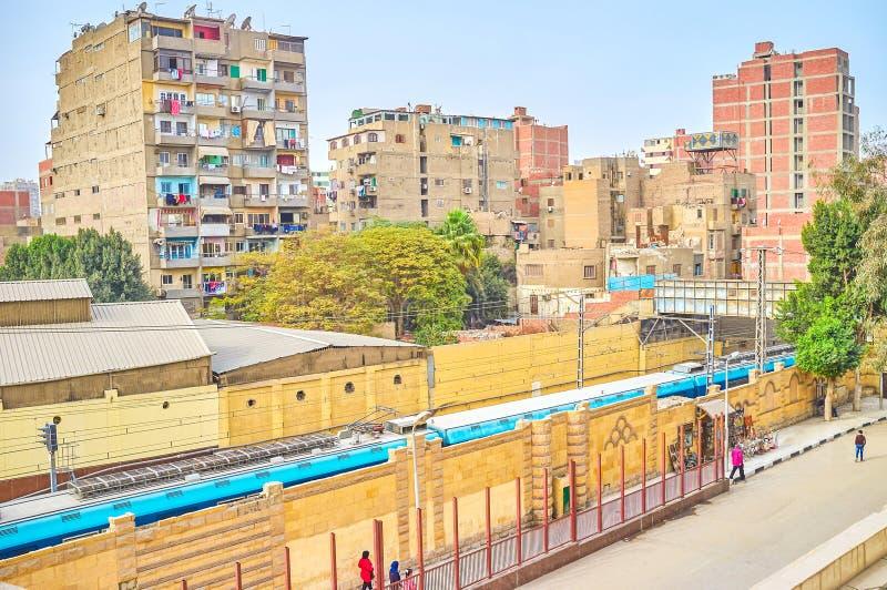 Les taudis du Caire, Egypte photo stock
