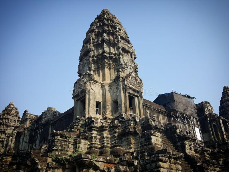 Les temples dans Angkor Vat photographie stock