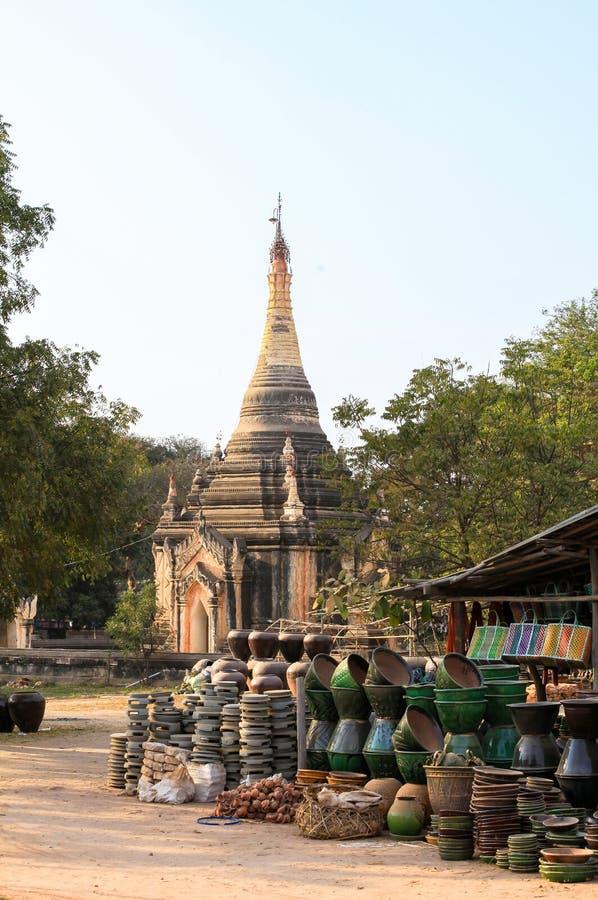 Les temples dans Bagan, Myanmar photo stock