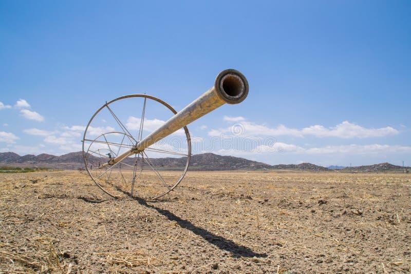 Les terres cultivables sèches de la Californie image libre de droits