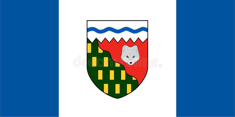 Les Territoires du nord-ouest dirigent le drapeau canada illustration de vecteur