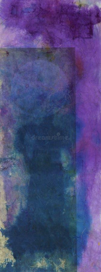 Les textures d'encre pourpre et bleue soustraient la peinture illustration de vecteur
