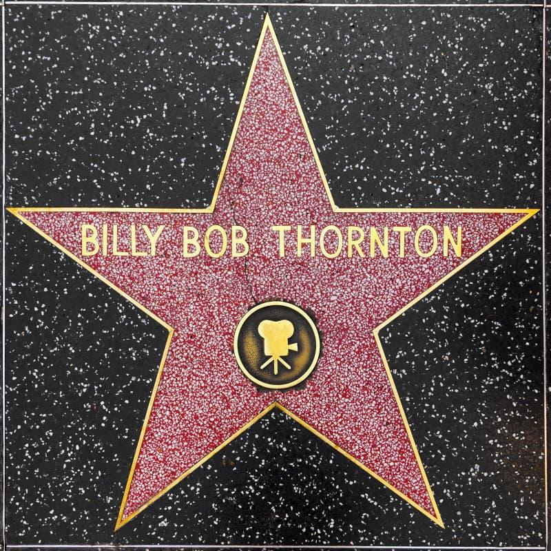 Les thorntons de plomb de Billy se tiennent le premier rôle sur la promenade de Hollywood de la renommée photos stock