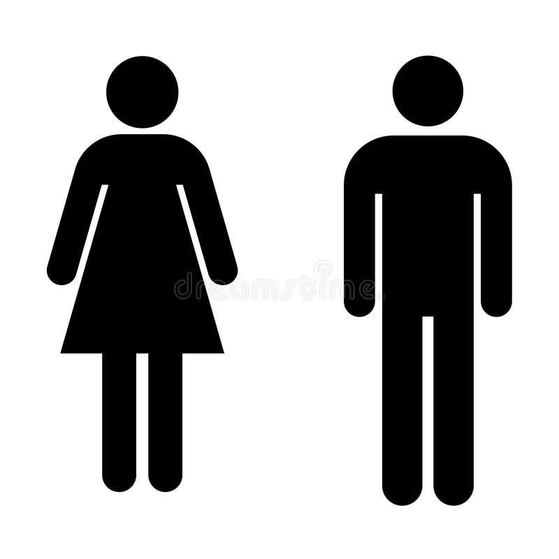 Les toilettes signent le vecteur images stock