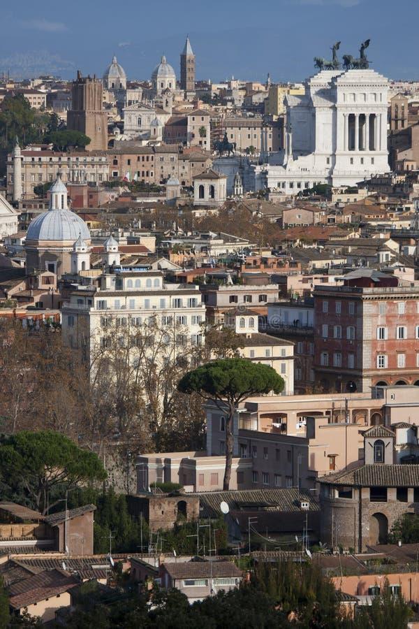 Les toits de Rome, Italie images libres de droits