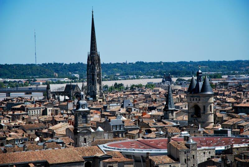 Les toits en Bordeaux photographie stock