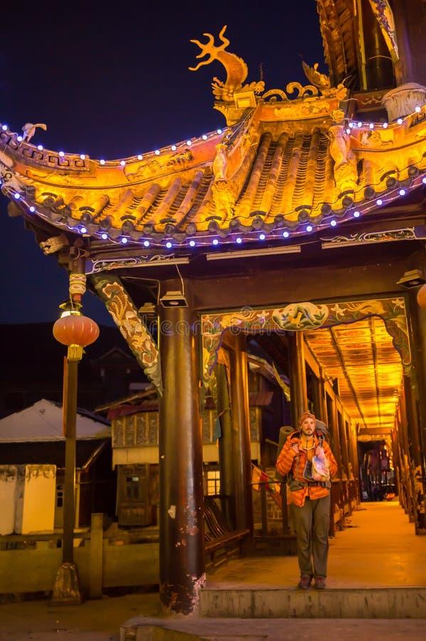 Les touristes visitent les vues de la Chine photo libre de droits