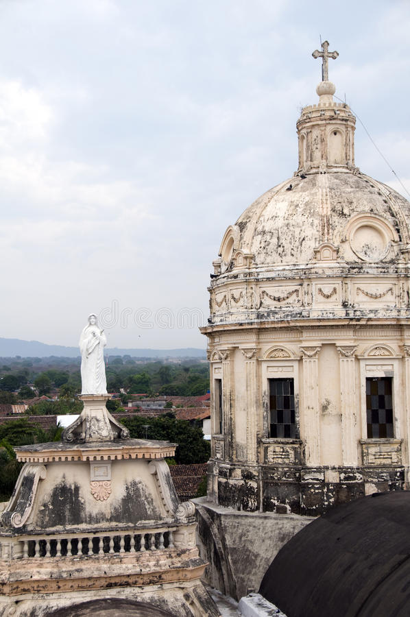 Les tours de l'église de la La merced Grenade Nicaragua photos stock