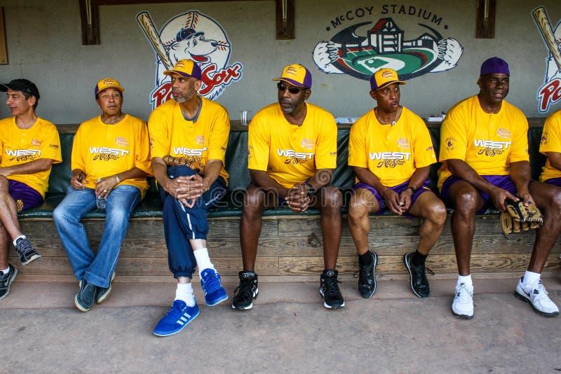 Les Tout-étoiles occidentales au jeu de Jeffrey Osborne Foundation Celebrity Softball photographie stock