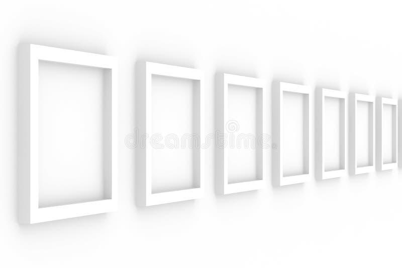 les trames vides de fond rament le blanc illustration de vecteur