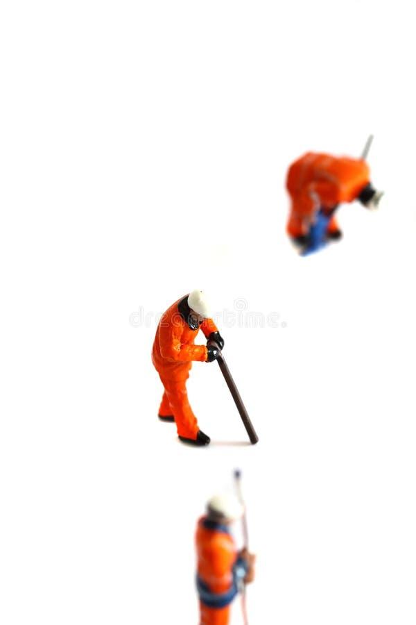 Les travailleurs modèles de construction ont isolé C images libres de droits