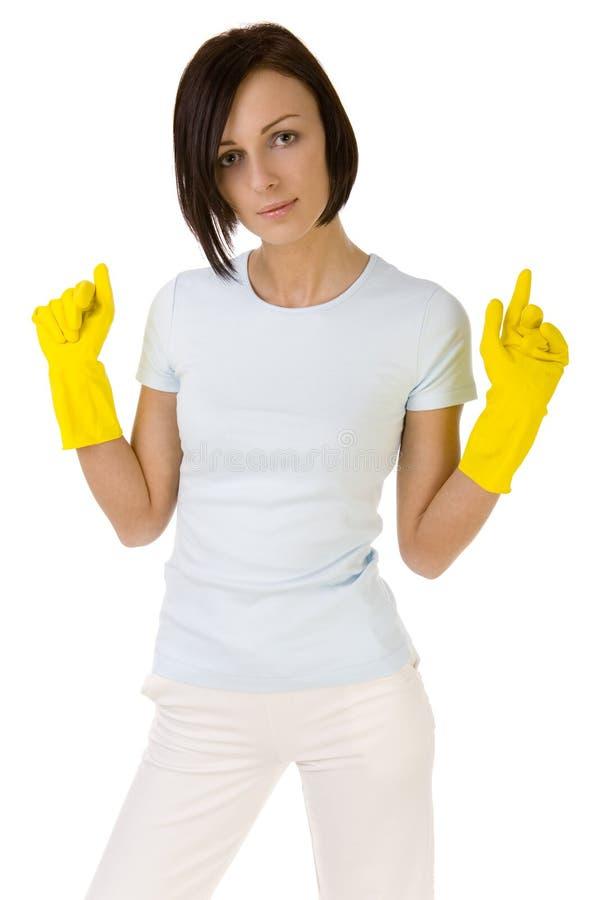 les travaux domestiques i m prêt à photographie stock