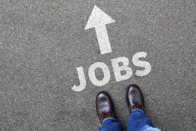 Les travaux, homme travaillant d'affaires d'homme d'affaires des employés de recrutement du travail photo libre de droits