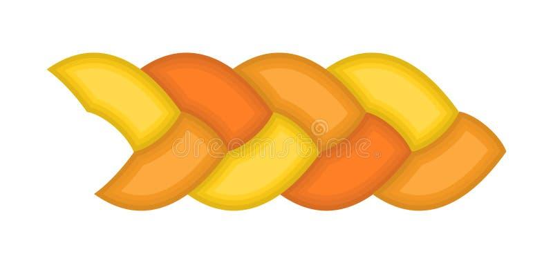 Les tresses de cheveux dirigent la vague de couleur d'illustration de tresse illustration stock