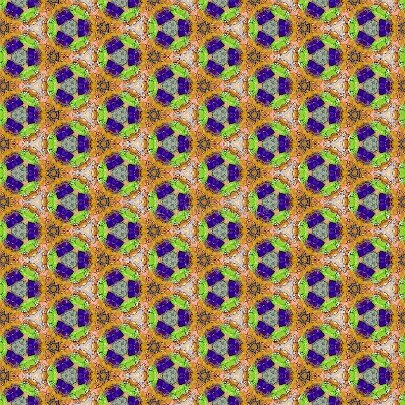 Les triangles continues géométriques impriment en contrastant la rétro palette de couleurs illustration stock