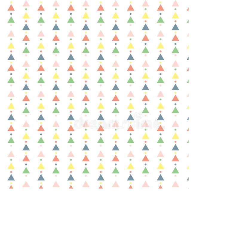 Les triangles et les cercles de SSeamless avec des couleurs lumineuses sur un fond blanc reproduisent la surface de vecteur image libre de droits