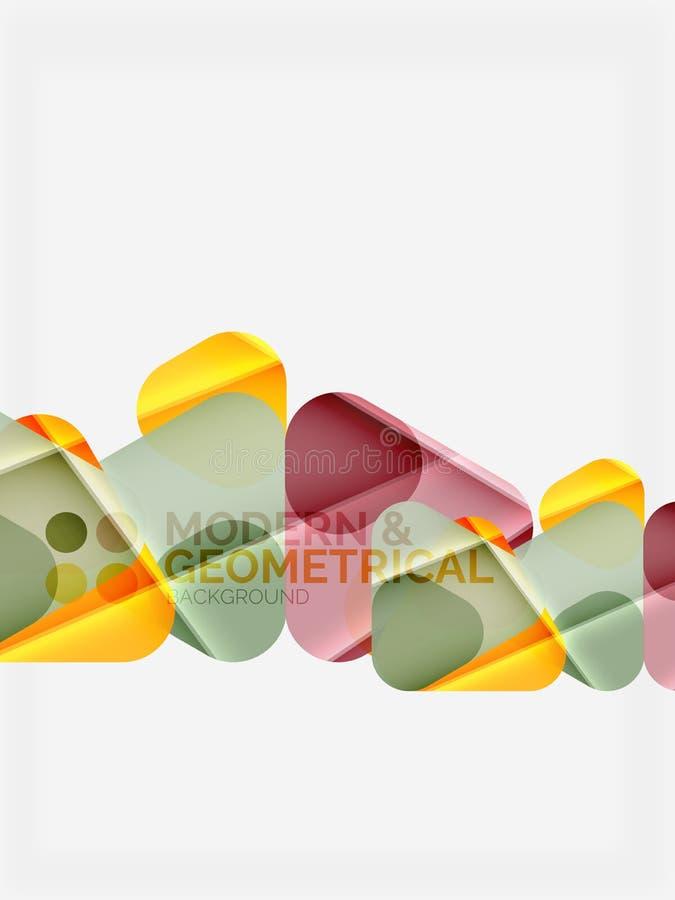 Les triangles géométriques colorées modernes avec l'effet brillant brillant avec l'échantillon textotent illustration de vecteur