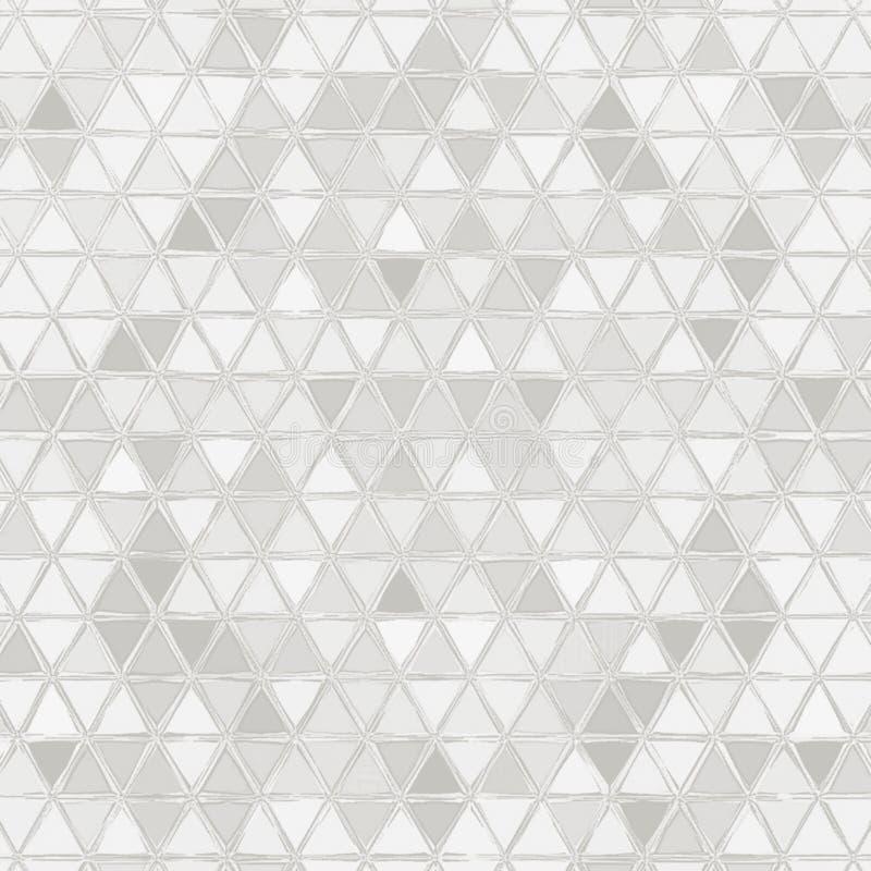 Les triangles monochromes donnent une consistance rugueuse pour la couverture ou le livre de coloriage illustration stock