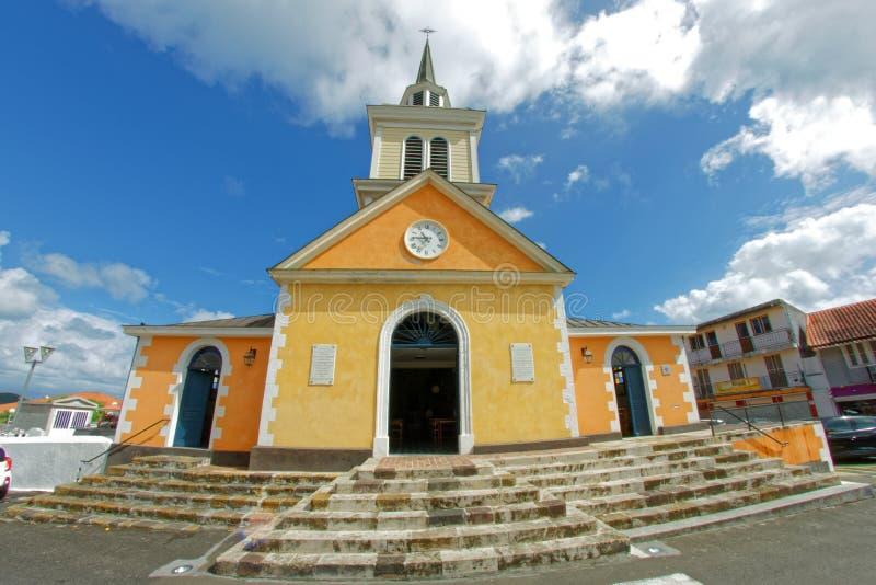 Les Trois Ilets kościół Martinique - miejsce ochrzczenie imperatorowej Josephine Napoleon ` s opóźniona żona - zdjęcie royalty free
