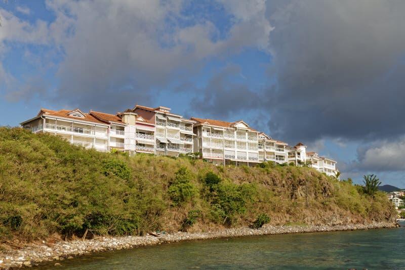 Les Trois-Ilets, Martinique - La Pointe du Anfall royaltyfria foton