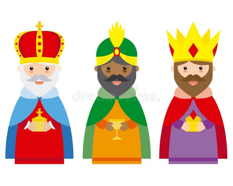 Les trois rois de l'Orient illustration stock