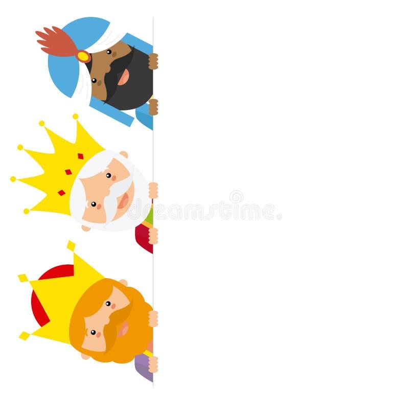 Les trois rois de l'Orient illustration de vecteur