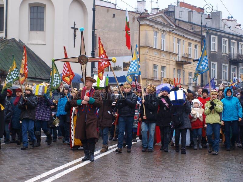 Les trois Rois Suite, Lublin, Pologne photos stock