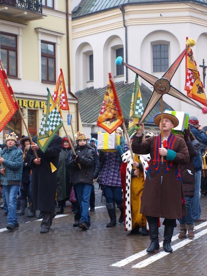 Les trois Rois Suite, Lublin, Pologne photo stock