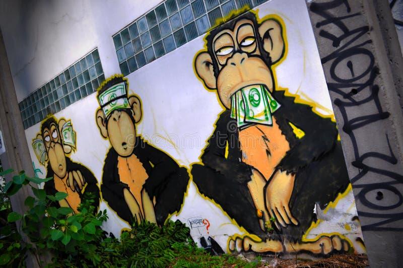 Les trois singes sages photographie stock libre de droits