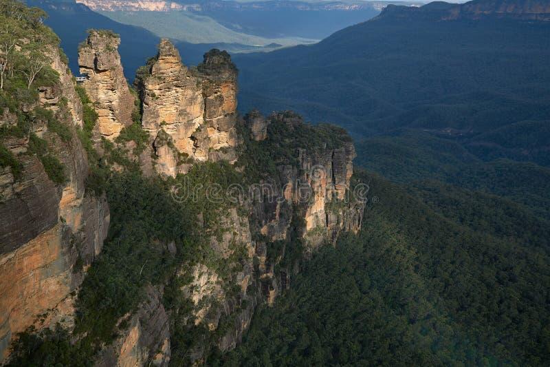 Les trois soeurs dans les montagnes bleues photos libres de droits