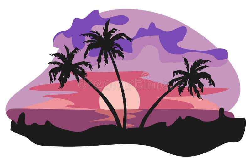 Les tropiques illustration de vecteur