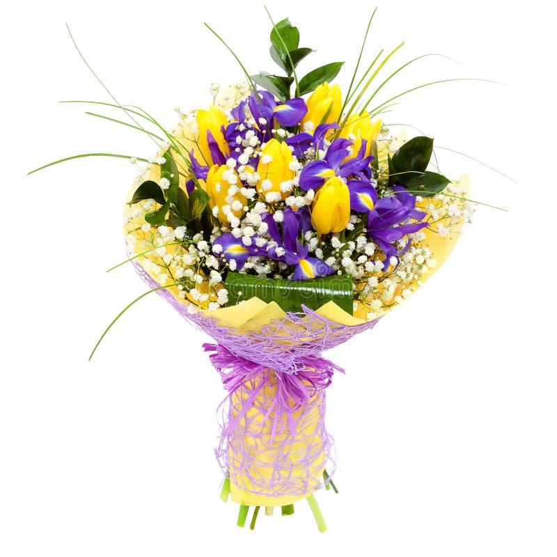 Les tulipes ont isolé le bouquet de composition florale photographie stock libre de droits