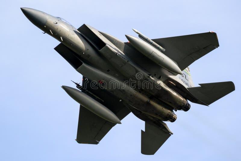 Les USA AF F15 Eagle en vol images stock