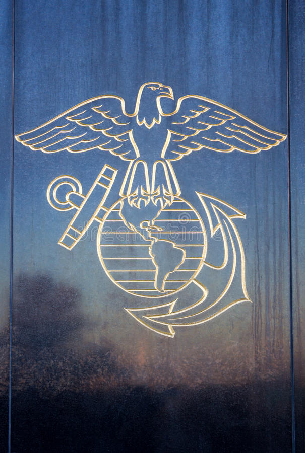 Les USA Marine Eagle photographie stock