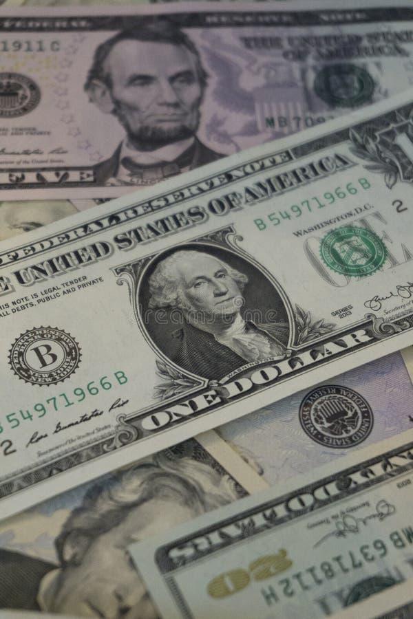 LES USA Un billet d'un dollar image libre de droits