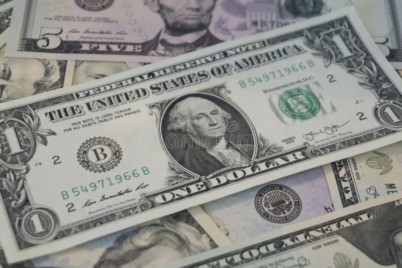 LES USA Un billet d'un dollar photos stock