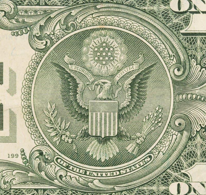 Les USA un billet d'un dollar, se ferment, le joint Etats-Unis images stock