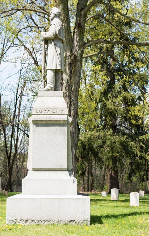 Les vétérans sectionnent d'un cimetière images libres de droits