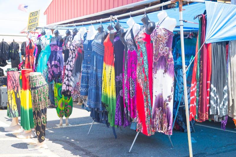 Les vêtements étirent avec l'habillement hippie des femmes florales de modèle de style de boho photo libre de droits